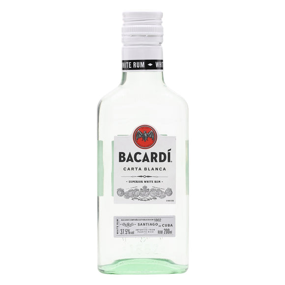 Bacardi Carta Blanca 20cl, Rum - The Liquor Shop Singapore