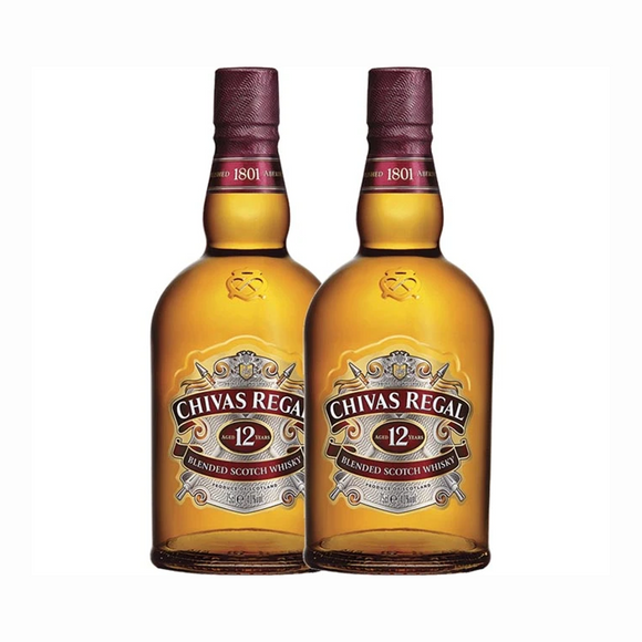 Chivas Regal 12 Years Old 70cl x 2 Bottles (Agent Stock, with Original Gift Box)