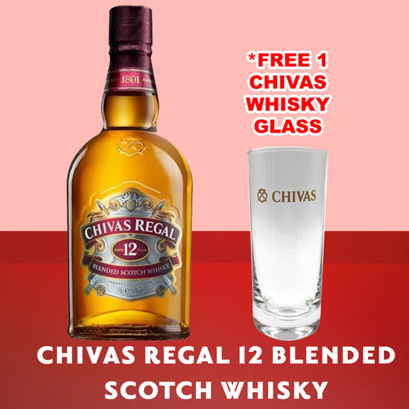 Chivas Regal 12 Years Old 70cl FREE Chivas Highball Glass