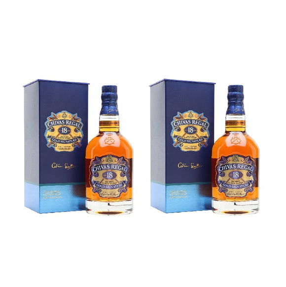 Bundle of Chivas Regal 18 Years Old 70cl