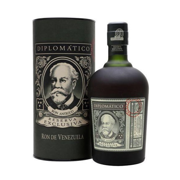 Diplomatico Reserva Exclusiva Rum 12 Years Old with Canister