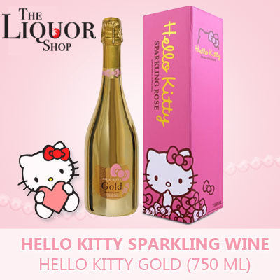 Hello Kitty Sparkling Wine Gold, Sparkling Wine - The Liquor Shop Singapore
