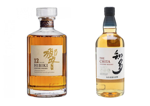 Hibiki 12 Years 70cl + The Chita Suntory 70cl, Japanese Whisky - The Liquor Shop Singapore