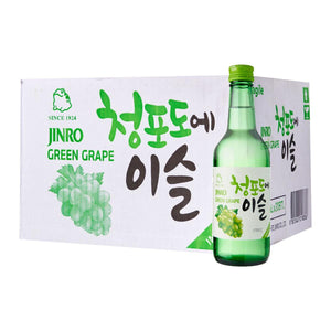 Jinro Green Grape Korean Soju - 20 x 360ml bottle