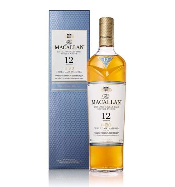 Macallan 12 Year Old Triple Cask Matured, Scotch Whisky - The Liquor Shop Singapore