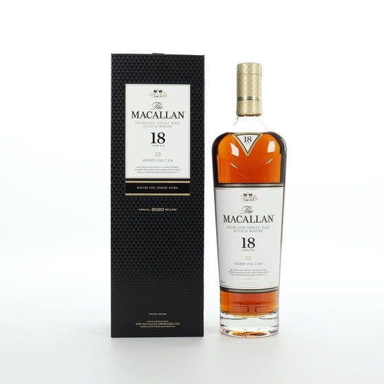 Macallan 18 Year Old Sherry Oak 2020 Annual Release