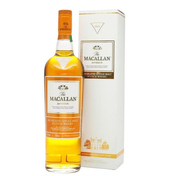 Macallan Amber Whisky - 1824 Series, Scotch Whisky - The Liquor Shop Singapore