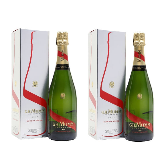 Mumms Cordon Rouge X 2 bottle (With box)