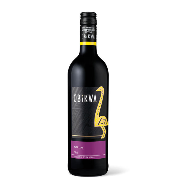 Obikwa Merlot 75cl, Red Wine - The Liquor Shop Singapore
