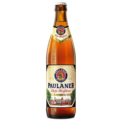 Paulaner Naturtrub Hefeweizen Wheat Beer - 20 x 500ml Quart