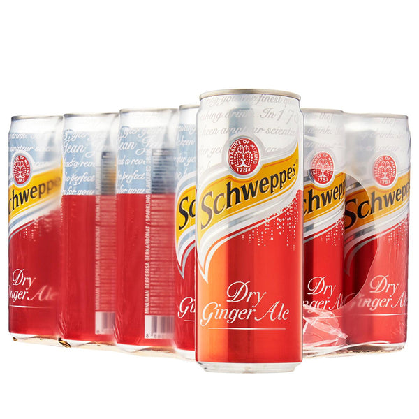 Schweppes Ginger Ale (24 x 330ml), Soft Drinks - The Liquor Shop Singapore