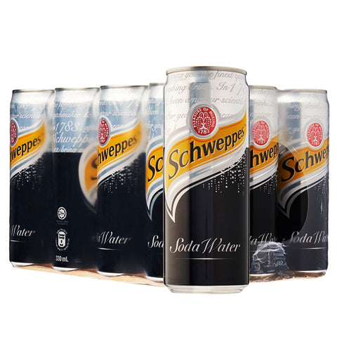 Schweppes Soda Water (24 x 330ml), Soft Drinks - The Liquor Shop Singapore