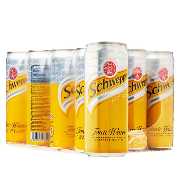 Schweppes Tonic Water (24 x 330ml), Soft Drinks - The Liquor Shop Singapore