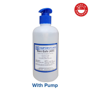Supersteam Sani-Safe (405) Hand Sanitizer 500ML - Alcohol-Free Sanitizer -With Pump