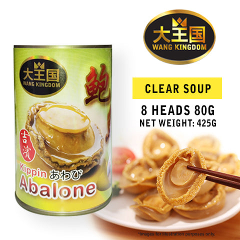 Wang Kingdom Kippin Clear Soup Abalone (8H80G) - Bundle of 6, Others - The Liquor Shop Singapore