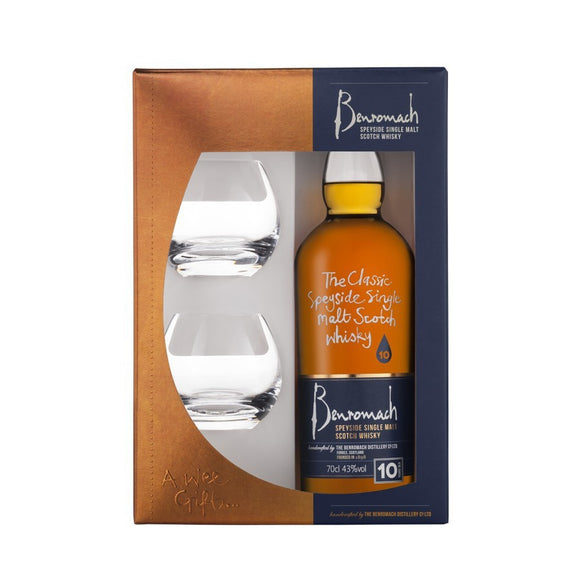 Benromach 10 Year Old Gift Set 70cl