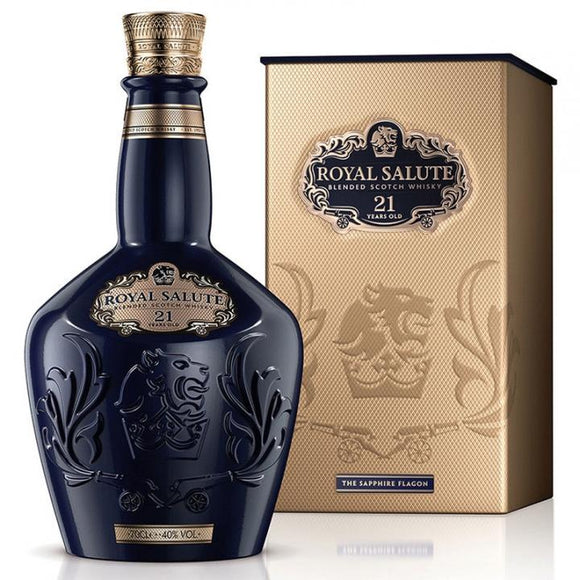 Chivas Regal Royal Salute 21 Years Old Sapphire Flagon