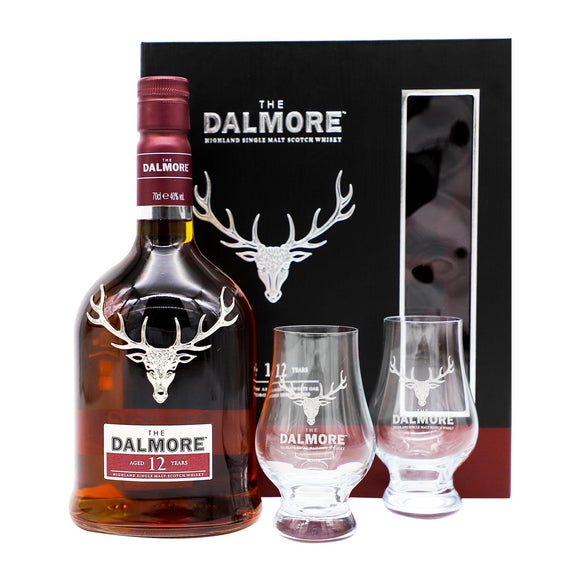 Dalmore 12 Years Old Gift Set FREE 2 Glencairn Glass 70cl