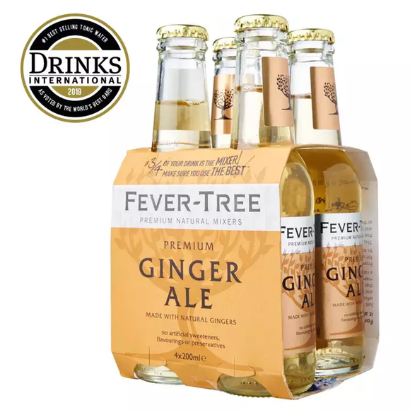 Fevertree Ginger Ale Mixer 4 x 200ml