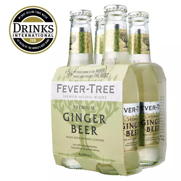 Fevertree Ginger Beer Mixer 4 x 200ml