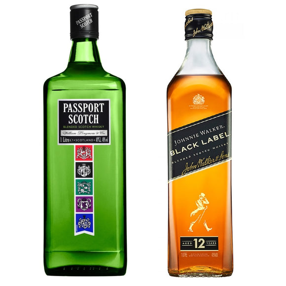 Passport Blended Scotch Whisky 1L + Johnnie Walker Black Label 1L