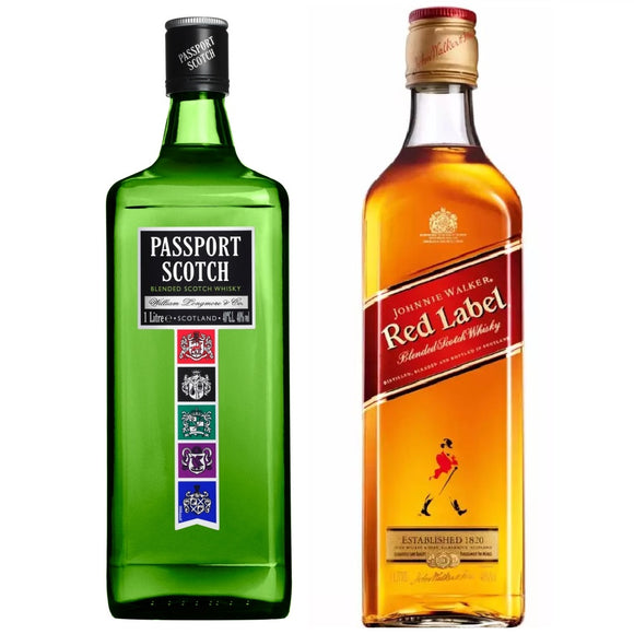 Passport Blended Scotch Whisky 1L + Johnnie Walker Red Label 1L
