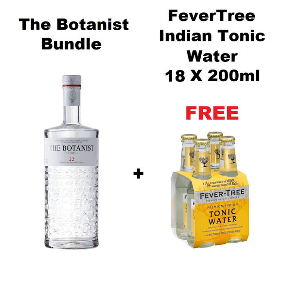 The Botanist Gin Bundle (FREE) 18 Bottle FeverTree Indian Tonics Water