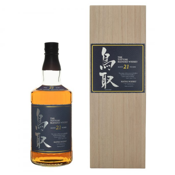 Tottori 21 Years Old Japanese whisky 70cl
