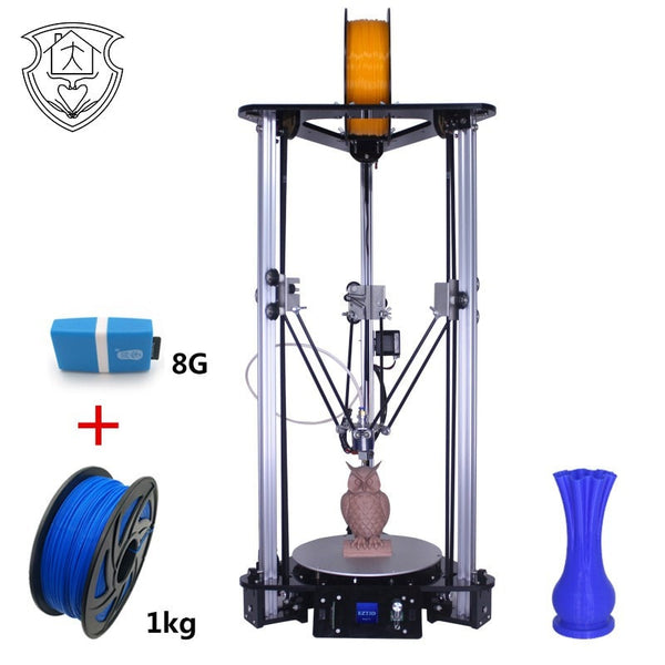 EZT3D 3D Printer High Speed Lcd Color Screen  DIY Kit Kossel Linear Delta Large Printing Size Easy To Assemble Similar to A8
