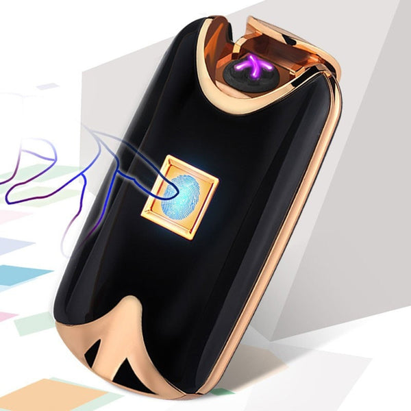 2017 New Rechargeable Mini Fingerprint Sensor Finger Touch USB Cigarette Electric Arc Lighter