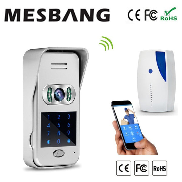 2017 Mesbang villa   ip video door bell support TF card  recording free shipping