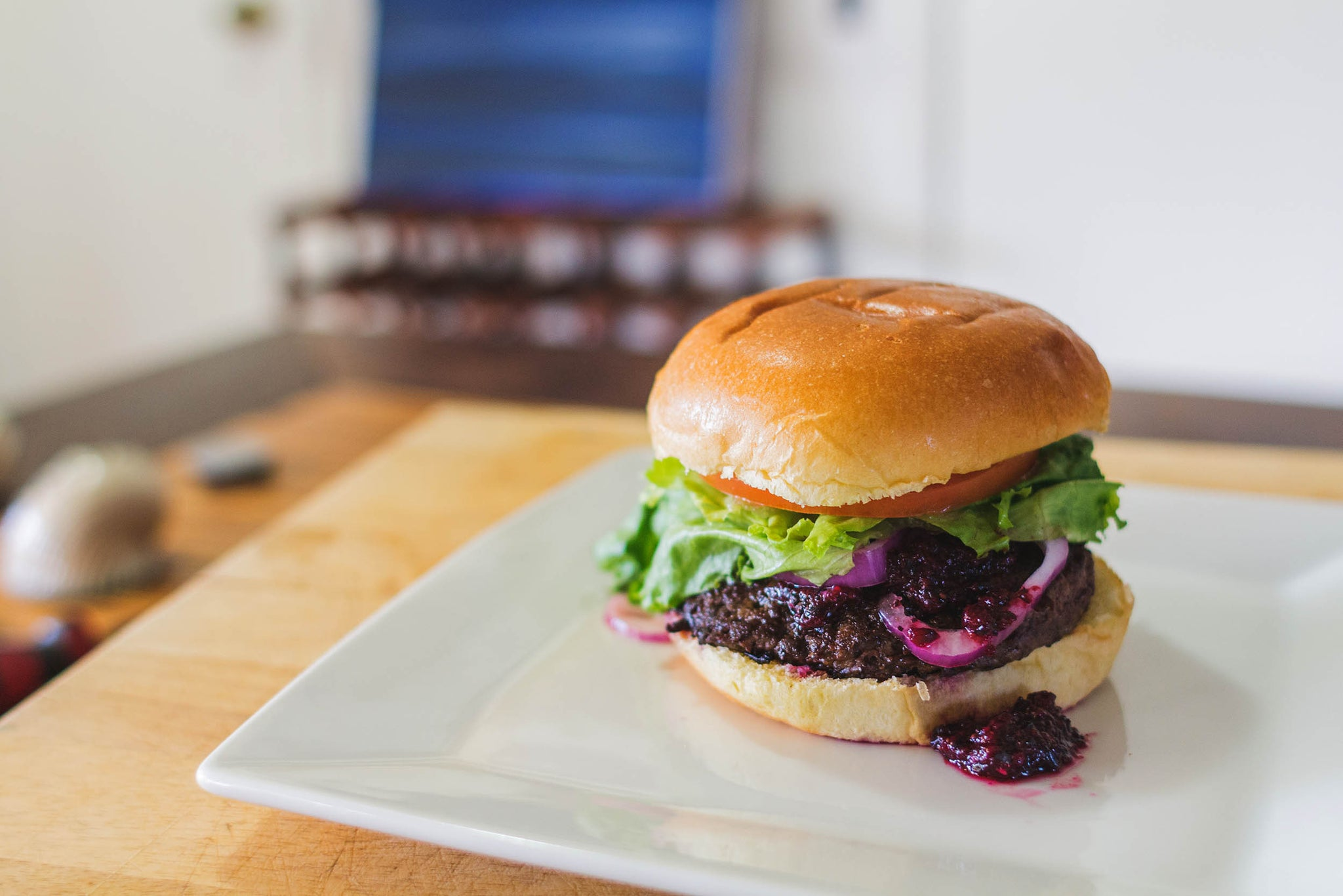 Recipe: Black Bear Burger with Blueberry BBQ Sauce