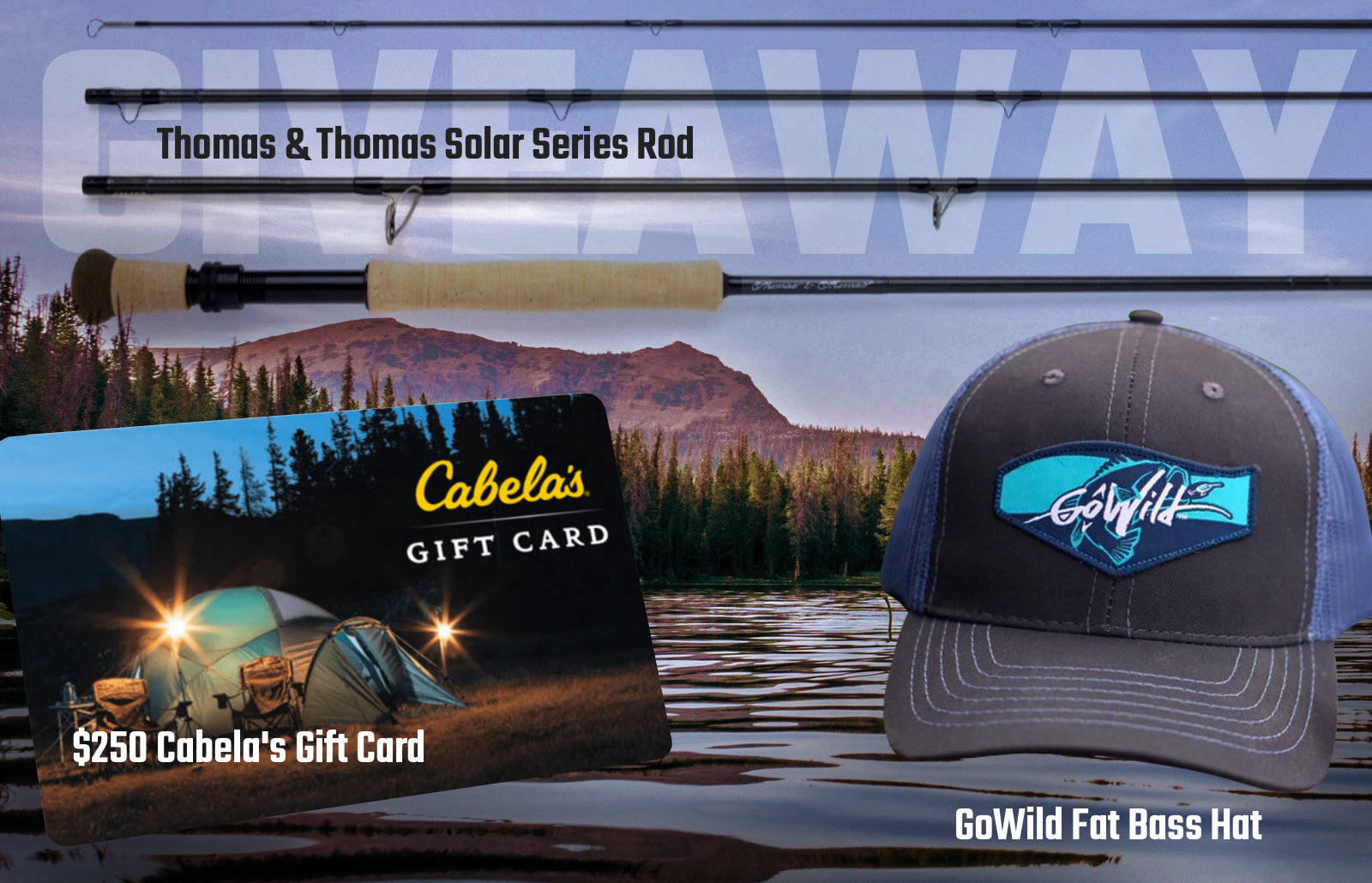 Giveaway: $250 Cabela's Gift Card, Fly Rod & More