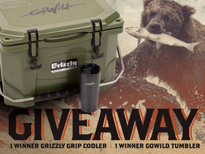 Giveaway: Custom GoWild Grizzly Cooler + Tumbler, 2 Winners