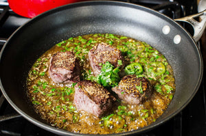 Recipe: Seared Venison Steaks in a Cilantro, Lime, Jalapeno Sauce