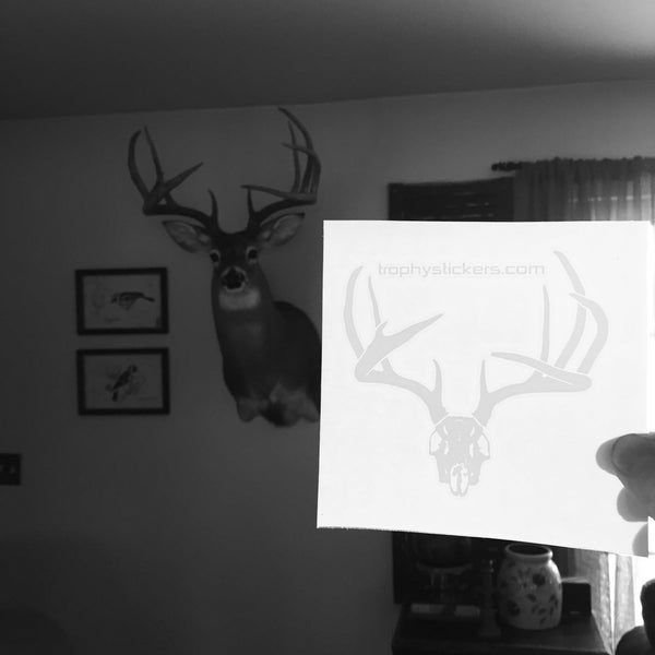 Sample of deer rack sticker