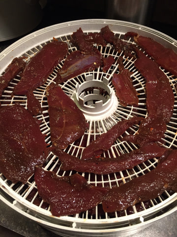 jerky on dehydrator