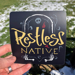 Restless Native Sticker