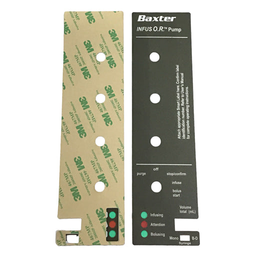 Baxter InfusOR Front Housing Label / Sticker - Even Biomedical