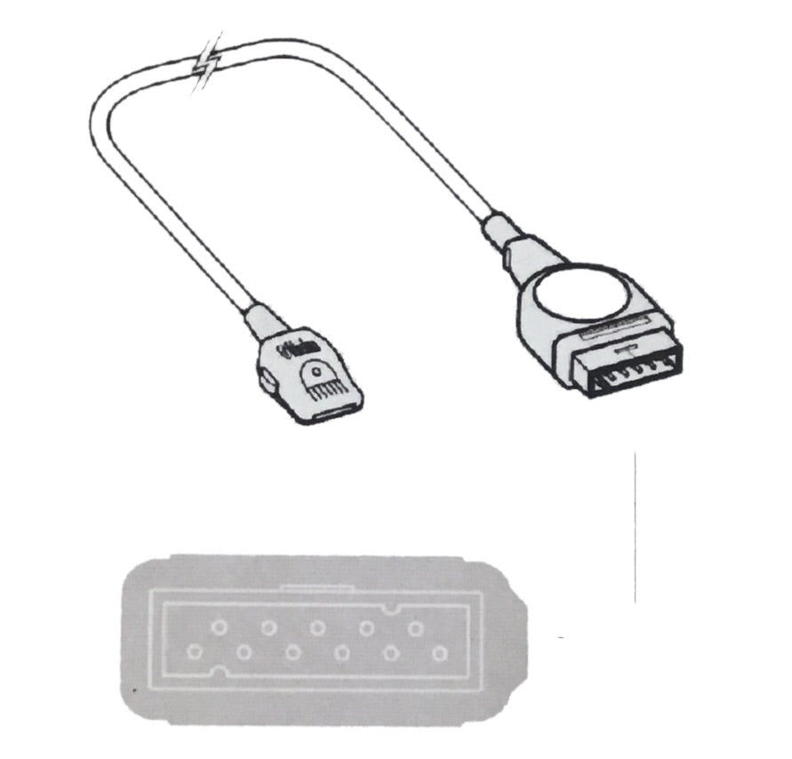 Masimo LNOP to GE Marquette SPO2 Extension Cable - Even Biomedical