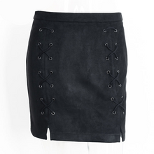 Lace Me Up Suede Skirt