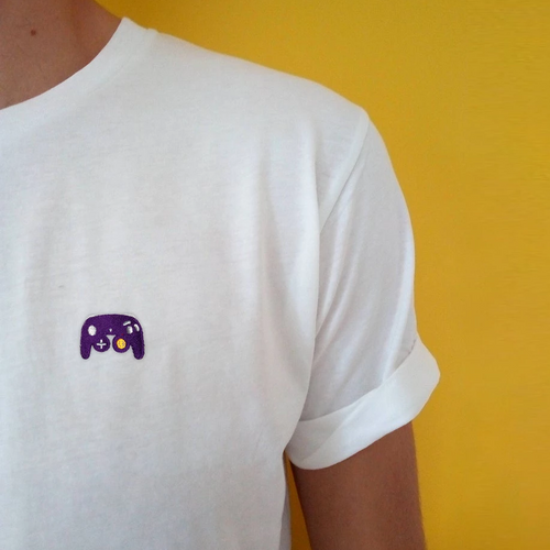 Game Controller Embroidered Tee