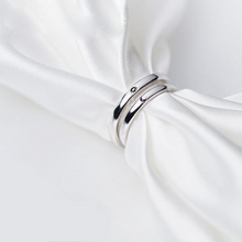 Sun and Moon 925 Sterling Silver Couples Ring