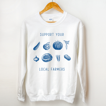 Support Your Local Farmers Sweatshirt (Light Colors)