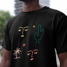 Abstract Faces Unisex Crew Neck Tee