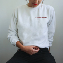It be like that sometimes embroidered sweatshirt