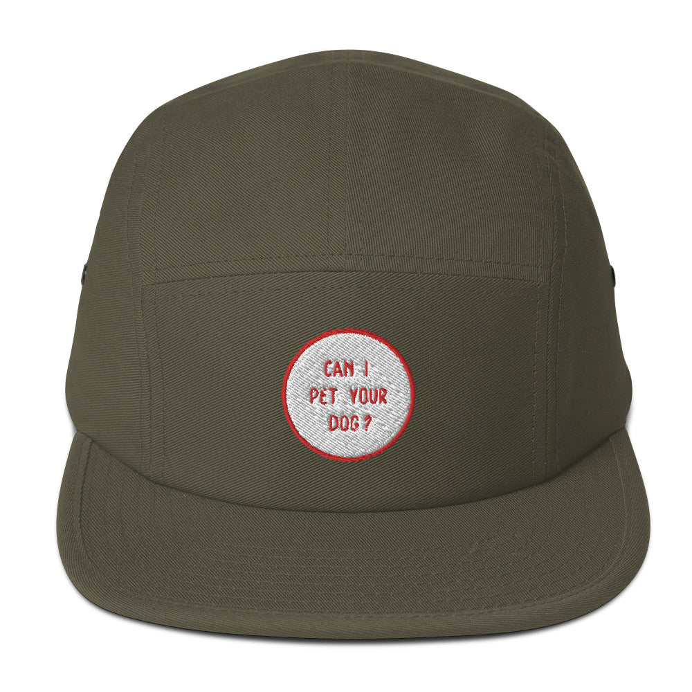 Can I Pet Your Dog Five Panel Cap