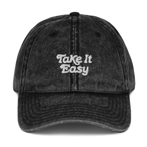Take It Easy Vintage Cotton Twill Cap