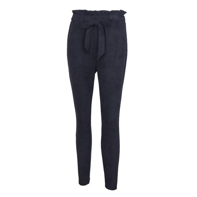 Any Sunday High Waist Suede Pants