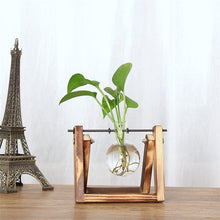 Retro Wooden Desktop Planter